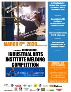 high school IAI welding competition poster