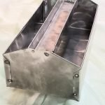 A homemade welded tool box